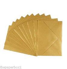 50 C7 Small, Mini, Gold Metallic Pearl Shimmer Envelopes RSVPs