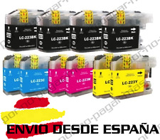 10 CARTUCHOS COMPATIBLES NonOem BROTHER LC223 DCP-J562DW DCPJ562DW