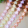 5 Yard Flowers Lace Wedding dress clothing accesories Appliques Trim Sewing 18mm