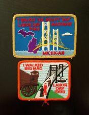 1985 and 1995 Annual Labor Day MACKINAC BRIDGE Walk Patch ~ Michigan