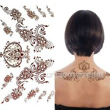 Waterproof Temporary India Paisley Tattoo Decals Henna Tattoo Paper Stickers
