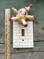 Vintage Humpty Dumpty Lightswitch Cover Yellow
