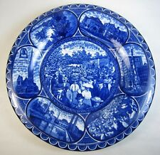 Antique Souvenir of Allentown, Pennsylvania Flow Blue Rowland & Marsellus Plate