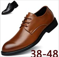 New Men's Shoes Formal Leather Oxfords Dress Business Lace up Wedding Shoes Lot