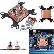 1pcs CPU Water Cooling Block Waterblock 50mm Copper Base Cool Inner Channel GL