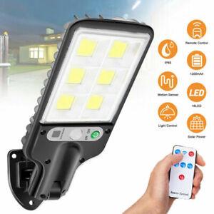600W LED Solar Wall Light Motion Sensor Outdoor Garden Security Street Lamp New