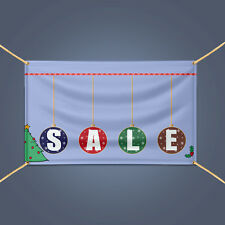 SALE Advertising Vinyl Banner, Christmas Holiday Big Discount Sale Business Sign