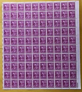 US Scott #808 Madison-Full sheet of 100-MNH-No perf seps