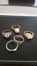 JOB LOT STERLING SILVER 925 LADIES RINGS 5 STYLES FROM THE JEWELLERY CHANNEL
