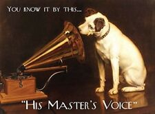 HIS MASTERS VOICE HMV GRAMOPHONE JACK RUSSELL METAL PLAQUE TIN WALL SIGN 441