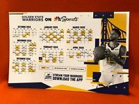 Cheer Card Golden State Warriors Authentic Fan Curry 2019-2020 Schedule New SGA