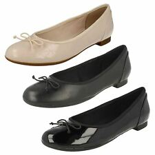 Ladies Clarks Dolly Shoes - Couture Bloom