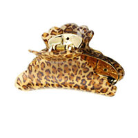 3Sizes Womens Girls Leopard Hair Clip Claw Hair Accessory L8R1