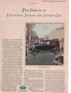 1929 Ford Model A Fordor Sedan Original ad  -  Rare
