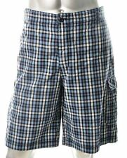 TIMBERLAND BLUE PLAID CARGO SHORTS - SIZE 40 WAIST - IMPORTED FROM USA