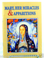 Mary Her Miracles and Apparitions Catholic Pocket size Paperback Book English