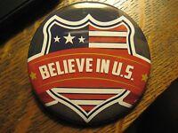 USA Winter Olympics Ski Team Believe In U.S. Logo Advertisement Lapel Button Pin