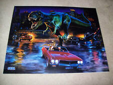 Sega JURASSIC PARK The LOST WORLD 1997 Original NOS Pinball Machine Translite