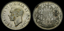 1947 Canada Silver Fifty 50 Cent Piece King George VI VF-30