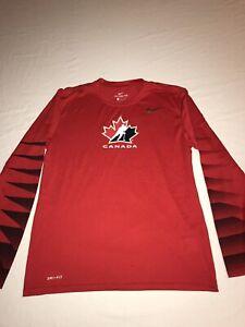 The Nike Tee Dri Fit Canada Hockey Mens Size Medium NWOT!