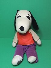 Peanuts Snoopy vintage soft toy plush doll figure / ancienne peluche 35cm