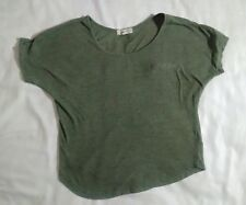 Gray green top shirt forever 21 polyester cotton