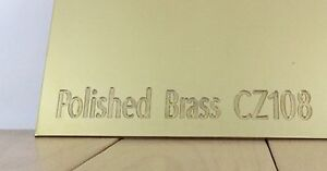 CZ108 POLISHED BRASS SHEET 0.5mm - 3.0mm Thick Metal Plate Crafts Engineering