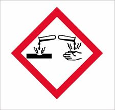 GHS Corrosion Pictogram Decal Label Kit OSHA Compliant Vinyl Sticker Decal