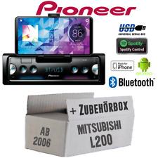 Pioneer Radio für Mitsubishi L200 ab 2006 Bluetooth Spotify Android iPhone Set