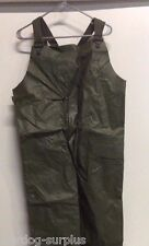 US MILITARY ARMY OD GREEN RAIN WET WEATHER PANTS TROUSERS OVERALLS BIBS M NIB