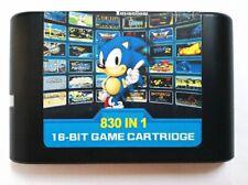 FREE & FAST SHIPPING 830 in 1 Sega Cartridge 16 Bit Mega Drive Genesis Game Cart