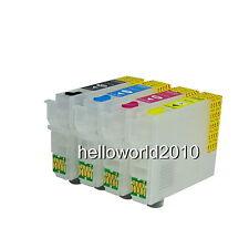 4 CARTUCHOS RECARGABLES T1291 / T1294 STYLUS OFFICE BX305F CON AUTORESET CHIP