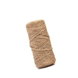 Natural Jute Twine String for Crafts, Weddings, Gifts, Events - 328 Feet