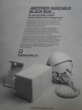 7/1981 PUB FAIRCHILD SPACE ELECTRONICS BLACK BOX FLIGHT DATA MANAGEMENT AD