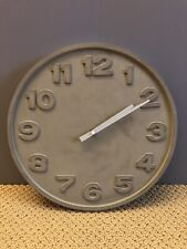 Gray Concrete Analog Wall Clock