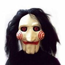 SAW MASKE JIGSAW SAW Puppet Latex Maske Kunsthaar Halloween Karneval Kostüm