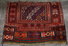 VERY RARE ANTIQUE  MIXED TECHNIQUE TRIBAL KASKAI QASHQAI DOWRY RUG