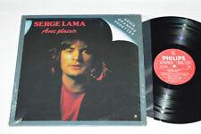 SERGE LAMA Avec Plaisir LP 1980 Philips Records Canada MIF-1-5301 VG+/VG+ Shrink