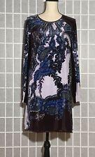 NWT CLOVER CANYON Velvet Long Sleeve Dress Made is USA Sz Medium