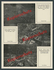 AVIATION Rumpler Photographie aérienne aéroport Berlin-Johannisthal Breitscheidplatz 1915