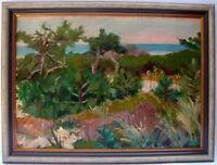 Arno König Landschaft Dünen Wattenmeer Öl auf Platte signiert datiert 1958