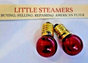 TWO 14 VOLT RED FLASHING [ BLINKING] LIGHT BULBS   AMERICAN FLYER/MARX/LIONEL