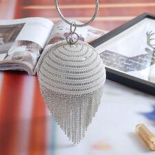 Luxury Handmade ball shape tassels Clutch Wedding Bridal Party Evening handBag