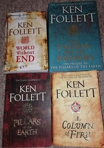 Ken Follett The Kingsbridge Novels Stories Collection 4 Books Set