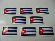 8 CUBAN FLAG Sticker Decal LOT 4 boat car Window Truck suv Wholesale CUBA