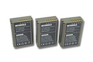 3x Batterie Intensilo 1140mAh pour Olympus OM-D / OMD / E-M5 / EM5
