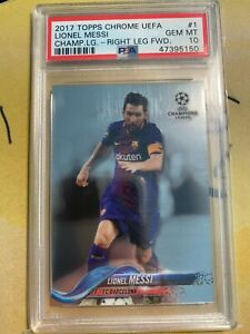 2017-18 Topps Chrome UEFA UCL LIONEL MESSI PSA 10 Gem Mint