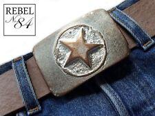 Boucle de ceinture changement Boucle Buckle Star étoile cuivre rosé Argent Nude 4 cm