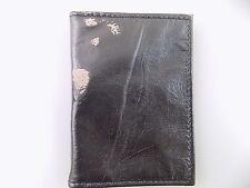 Geoffrey Beene $65 Black ID Wallet MEN'S Leather Wallet *DEFECT* 2 ID SALE S24