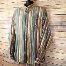 Cinch Western Shirt Mens Sz XL Striped Cowboy Button Down Front Long Sleeve